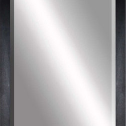 Paragon Decor - Beveled Mirror, Flat Black Wood, 36x48 - Mirror, Mirror, on the wall, who's the most beautiful mirror of them all? Reflect your impeccable taste with this contemporary-style mirror, which features a gorgeous flat black wood frame and high-quality interior beveled mirror. This piece measures 41 inches wide, 2 inches deep, and 53 inches high.