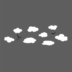 Dana Decals - Clouds and Birds Wall Decal - Ideal for homes, kids rooms, and schools.