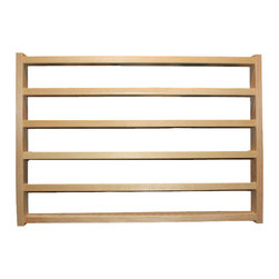 Train Rack Basic - Thomas Train Wooden Storage Display Wall Rack Shelf - Hold up to 35 Thomas the tank or Brio wooden trains on this hand made rack. The solid wood constuction will last a lifetime of use. This is my most popular Rack. 23x15-1/2x1-3/4