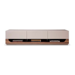 JNM Furniture - TV103  Modern TV Stand in Taupe Lacquer Finish - Gorgeously crafted in a taupe high gloss, with contasting walnut veneer the TV103 TV Base is simple, sophisticated, & Sleek. This tv unit also Features a shelf with an attractive arch design for media devices, and 3 deep drawers with soft closing for plenty of storage.