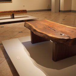 Walnut Benches - Each walnut bench was made from trees and logs sustainably sourced within 60 miles of our North Alabama studio.