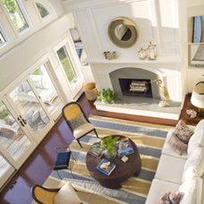 Beach Style Living Room by Taste Design Inc