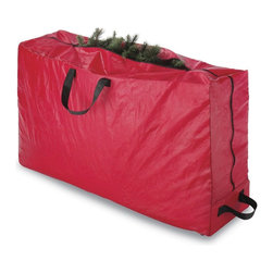None - Rolling Storage Christmas Tree Bag - Protect your Christmas tree by storing it in Whitmor's Rolling Storage bag. This bag is made from durable moisture proof polypropylene material and includes heavy duty handles and wheels for easy portability