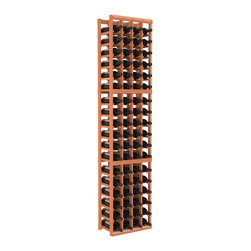 Wine Racks America - 4 Column Standard Wine Cellar Kit in Redwood, (Unstained) Redwood - Continue building your fine wine collection with this easy-to-assemble storage cellar. It's made of redwood, available in your choice of colors and finishes, and its compact vertical design saves space. Put it together and expand as needed thanks to modular design. Cheers!