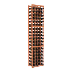 Four-Column Standard Wine Cellar Kit in Redwood