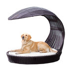 Outdoor Dog Chaise Lounger, Xlarge - Treat your furry friend to a relaxing day of sun and fun. The Outdoor Dog Chaise Lounger is a stylish, waterproof dog bed that is perfect for a nap on the deck or a poolside siesta. The bed also comes with a built-in, overhanging shade for those days when your dog wants to cool off.