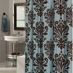 Other Brands - Carnation Home Fashions EZ On Grommet Damask Fabric Shower Curtain - SCEZ-BH/16 - Shop for Shower Curtains from Hayneedle.com! A large scale all-over damask pattern and built-in PVC grommets make the Carnation Home Fashions EZ On Grommet Damask Fabric Shower Curtain stylish and handy. This shower curtain comes in your choice of color combination and is made of water-repellent polyester material so there's no need for a shower curtain liner.About Carnation Home FashionsYour home your style Carnation Home Fashions believes in this motto. That s why this home fashions company offers a wide range of on-trend and classic products designed for style and convenience. Perfect for matching today s busy lifestyles their bath products meet your needs in style. Carnation Home Fashions is based in Newburgh New York.