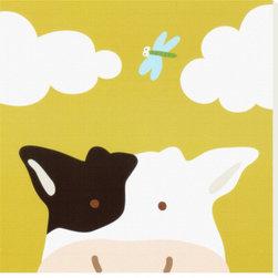 Artcom - Peek-a-Boo III, Cow by Yuko Lau - Peek-a-Boo III, Cow by Yuko Lau is a Stretched Canvas Print.