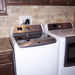 Laundry Room - Bertch Legacy Division / Savannah Door Style / Rustic Alder Wood / Mocha Stain / Matte Finish / Installation by Fran Pantzar