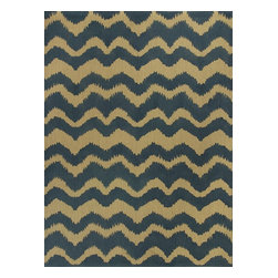 """Kas - Contemporary Natura 2'3""""x3'9"""" Rectangle Blue Area Rug - The Natura area rug Collection offers an affordable assortment of Contemporary stylings. Natura features a blend of natural Blue color. Handmade of 100% Jute the Natura Collection is an intriguing compliment to any decor."""