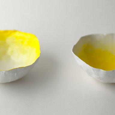 Small Yellow Fade Bowls -