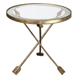 Uttermost - Uttermost 24275 Aero Glass Top Accent Table - Uttermost 24275 Aero Glass Top Accent Table