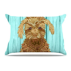 """Kess InHouse - Art Love Passion """"Gatsby the Great"""" Brown Dog Pillow Case, Standard, 30""""x20"""" - This pillowcase, is just as bunny soft as the Kess InHouse duvet. It's made of microfiber velvety fleece. This machine washable fleece pillow case is the perfect accent to any duvet. Be your Bed's Curator."""