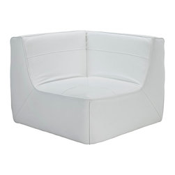 LexMod - Align Leather Bonded Leather Corner Sofa in White - There are sectional sets that claim to be modern by portraying some enlightened path forward. But for every one of these efforts, is an equal and opposite reaction. The more we use our own guile to paddle forward, the more the stream of present reality seems to rush against us. Align was designed as an attempt to wash away those hindrances that obstruct growth. If there had been a choice, the designers would have kept Align just that. But while a sectional sofa set needs to be made curved, the intent was to stay true to the original concept. Align comes generously padded and upholstered in bonded leather, with slight button tufting and trim for only the gentlest effect.