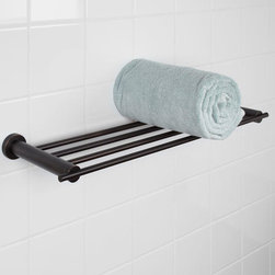 Aylett Towel Rack - Concealed mounting screws give the Aylett Collection Towel Rack a simplistic elegant look. This four-railed rack is great for storing bathroom accessories.