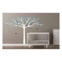 Cherry Walls - Rockabye Treetop Nursery Decal - You can hear the birds chirping with this charming tree motif nursery decal. Protecting any crib, or big kid bed, the subtle original design brings nature and a breath of fresh air into any room. Add to the flock with additional bird decals.
