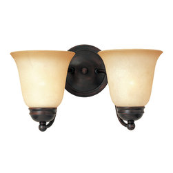 Basix-Wall Sconce - Contemporary collection with sweeping arms and clean lines.  Offered in Ice glass and Satin Nickel finish or Wilshire glass and Oil Rubbed Bronze finish.
