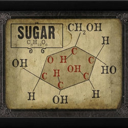The Artwork Factory - Sugar Molecule Framed Artwork - Ready-to-Hang, 100% Made in the USA, museum quality framed artwork