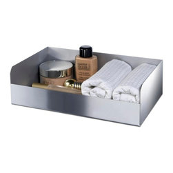 Windisch - Rectangle Brass Accessories Tray with Chrome or Gold Finish, Chrome - If your bathroom lacks a vanity tray, why not consider this upscale accessory tray from the Windisch Complements collection? Perfect for more contemporary & modern settings, this high-end bathroom accessory tray is free stand and finished with chrome or gold. Made with high quality brass in Spain by Windisch. Accessory tray for a upscale personal bath. High-End vanity tray. High quality brass, finished with chrome or gold. Made by Windisch in Spain.