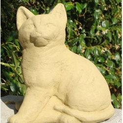 Sitting Kitten Garden Statue - The Sitting Kitten Garden Statue symbolizes individuality, playfulness, and youthful curiosity. You choose whether to provide accompanying web-worthy captions. Lifelike details are rendered by hand in the USA.About Designer StoneSince 1999, the family-owned Designer Stone has been proudly manufacturing American made garden variety stoneware in a creative range of prices and functions for every standard of living. With artist designed sculptures and planters, Designer Stone's aim to create spiritually moving and enlivening pieces intends to evoke the precious moments from a garden that remind us who we are and what we do. With every purchase backed by a no-hassle guarantee, Designer Stone promises high-quality products that will enhance your home or garden, no ifs ands or buts.