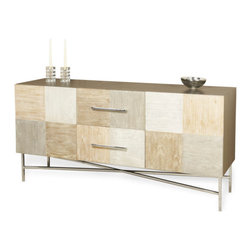 Interlude - Mara Patchwork Buffet - The Mara Patchwork Buffet is beautify crafted with multicolored ceruse panels.