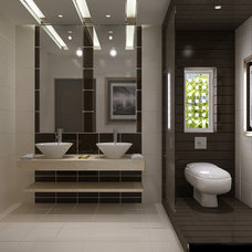 Modern Powder Room by iDEaSIGN