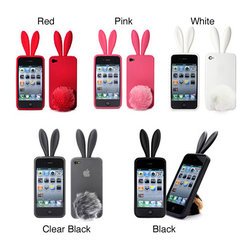 Bunny Rabito Rabbit iPhone 4 Rubber Case - Oh my God, have you ever seen such a cute phone cover? Everyone will be wishing you a happy Easter when they see this. It would also be great to put in someone's Easter basket.