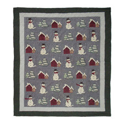 Patch Quilts - Snowman Quilt King 105 x 95 - - Intricately appliqued and beautifully hand quilted.Bedding ensemble from Patch Magic  - The Name for the finest quality quilts and accessories  - Machine washable.Line or Flat dry only Patch Quilts - QKSNMN