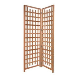 All Things Cedar 7-ft. Cedar Wood Privacy Screen Trellis - Make your patio more private or cover a less-than-attractive area in your backyard with the All Things Cedar 7-ft. Cedar Wood Privacy Screen Trellis. With the lattice panels on this screen you will be able to grow your favorite vines and greenery to create an incredible feeling of romance at your home.Crafted from clear-grain Western Grain Cedar the Cedar Trellis Screen will weather to an attractive silver-gray patina if left unfinished. Cedar is naturally resistant to moisture decay and insects and is extremely durable for outdoor use.The hardware is zinc-coated to prevent rust. Hand-crafted for ultimate durability the Cedar Trellis Screen has pre-drilled holes and fully illustrated instructions for assembly.Place your order for the Cedar Trellis Screen to enjoy the romantic atmosphere it provides at your home.About All Things CedarA world leader in fine patio furniture garden furniture and other accessories All Things Cedar is a smart choice for your outdoor needs. They offer an extensive line of unique items made from high-quality weather-resistant woods including clear-grade cedar teak and more. Their items are designed with care in timeless fashions that are sure to enhance your space. All Things Cedar prides themselves on fine customer service and dependable products.