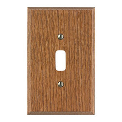Renovators Supply - Switchplates Dark Solid Oak Toggle or Dimmer Switch Plate - Bring the sophistication of wood into your home with this solid oak wallplate.