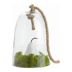 Arteriors - Judd Cloche, Small - The classic bell jar takes on a nautical twist with a rugged rope handle — a super simple accent piece for your favorite setting! Use the cloche to display a cherished object or plant — or place it over cheese at your next party.