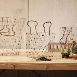 Wire Shopping Baskets, Set of 3 - Keep your space clutter free and organize your tight space with these wire shopping baskets. Whether you use them to keep magazines next to your sofa, or your go through stack of paper in your home office, you will love how simple and chic these baskets are.