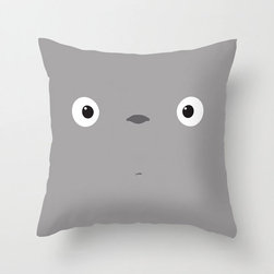 Good Morning Totoro Pillow Cover - The films of Studio Ghibli have a way of filling us with childlike wonder at any age. Celebrate your love for My Neighbor Totoro in your home with this exclusively designed poplin pillow cover featuring a huggable, wide-eyed Totoro face. Whether it's for the kids or especially for you, we know it will bring a smile to your face.