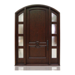 "Traditional Collection | 2986 - Species: Knotty Alder, Distress: Tuscany, Hinges : 4.- 5"" Ball Bearing Hinges ORB, Exterior Door"