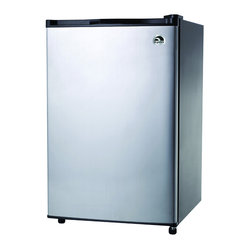 Igloo 4.6 Cubic-Foot Stainless Steel Door Refrigerator