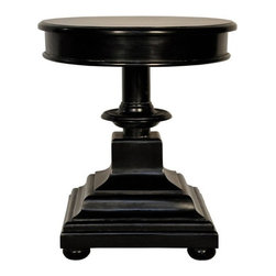 NOIR - NOIR Furniture - Ritter Side Table in Hand Rubbed Black - GTAB294HB - Ritter Collection Side Table