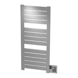 Amba - Block 22x52 Electric Heated Towel Warmer, Polished - • Dual-purpose radiator functions as towel warmer and space heater