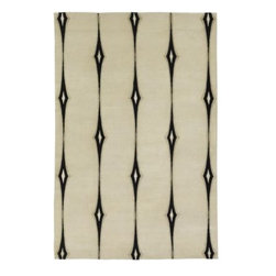 Surya Candice Olson Luminous Ivory Rug - I love how this rug is neutral, yet interesting.