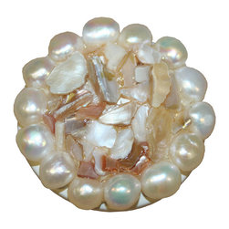 Country Cottage - Shell & Pearl Drawer Knob - Shell & Pearl Drawer Pulls