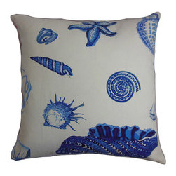 The Pillow Collection - Rayen Blue 18 x 18 Coastal Throw Pillow - - Pillows have hidden zippers for easy removal and cleaning  - Reversible pillow with same fabric on both sides  - Comes standard with a 5/95 feather blend pillow insert  - All four sides have a clean knife-edge finish  - Pillow insert is 19 x 19 to ensure a tight and generous fit  - Cover and insert made in the USA  - Spot clean and Dry cleaning recommended  - Fill Material: 5/95 down feather blend The Pillow Collection - P18-D-21020-NATURALBLUE-C100