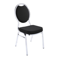 National Public Seating - National Public Seating 9500 Fabric Upholstered Stack Chair - Add upscale ambiance to any cafeteria, lounge, or banquet hall with this stylish tear drop stacker chairs. Save space for storage or cleaning by stacking these chairs. It features a concealed double back for a more refined look, and built-to-last construction from rugged 7/8 inch square 18-gauge steel tubing. A contoured padded 2 inch thick high density foam seat provides for exceptional comfort. Ruggedly built yet comfortable and stylish, these stackable banquet chairs come in a wide variety of fabrics, finishes and padding options, Perfect to meet any budget and ships quickly to fill any banquet hall or catering inventory. Self-leveling glides won't scuff floors. Built-in stack bar and 12 plastic stack bumpers help prevent wear and tear.