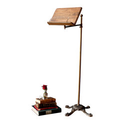 BoBo's Intriguing Objects - Lecturn - It's time for the next chapter in your design diary. This lectern is adjustable and features a lovely wooden top with page holders and a Victorian-inspired brass-finished neck and base. Show off your rare first edition — or impress your friends at the next book club meeting.