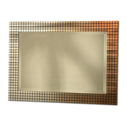 Nova Lighting - Nova Lighting Bronze Grid Contemporary Rectangular Framed Wall Mirror X-24423MW - From the Grid Collection, this Nova Lighting rectangular wall mirror features a simple but classic rectangular design. The mosaic grid frame is four square deep and comes finished in a stunningly beautiful blend of Bronze and Silver tones. This contemporary wall mirror is a delightful addition to bedrooms, living rooms and more.