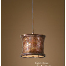 "21851 Marcel Copper, Mini Pendant by uttermost - Get 10% discount on your first order. Coupon code: ""houzz"". Order today."