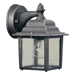 Quorum - 1-Light Outdoor Wall Lantern Rustic Silver - This 1-Light Outdoor Wall Lantern, finished in attractive Rustic Silver, sets itself apart from the crowd and adds the final touch to your home or office.