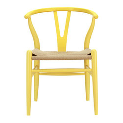 Modway - Amish Dining Chair in Yellow - This dining chair features traditional wood paired with modern design, resulting in a unique piece for your home.