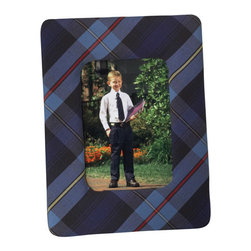 Plaid Photo Frame - Preppy and plaid is a match made in heaven on this frame.