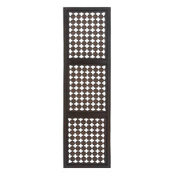 Benzara - Elegant Wall Sculpture - Wood Wall Panel 72in.H, 20in.W - Size: 72 high x 20 wide x 1 depth (inches)