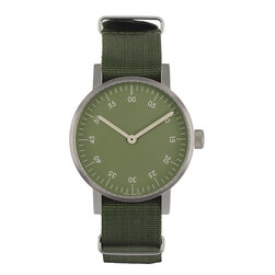 VOID Watches - V03B Watch - Green Face w/ Green Strap - VOID Watches - True to form, V03 as the name suggested, is as simple and obvious as the previous ranges, using high quality materials like stainless steel and premium leather with close attention being paid to detailing such as the concentric numbers following the path of time and the discreet branding replacing the normal country of origin markings on the lower part of the dial.