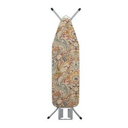 """PB Ironing Board Cover, Celeste Damask, Red - Brighten up laundry day with our printed cotton ironing-board covers. They're sized for a standard board and elasticized for a secure fit. All styles are pure cotton or a cotton/linen blend. See Dimensions & Care tab for details for each style. Twill-tape drawstring ties. 58.5"""" long x 20.5"""" wide Made to fit ironing boards that are 54-56"""" long by 14-16.5"""" wide. Machine wash. Foam Ironing Board Pad (sold separately) provides a heat absorbing additional layer for more efficient ironing. Imported. Catalog / Internet only."""